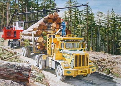 Challenger Logging Truck