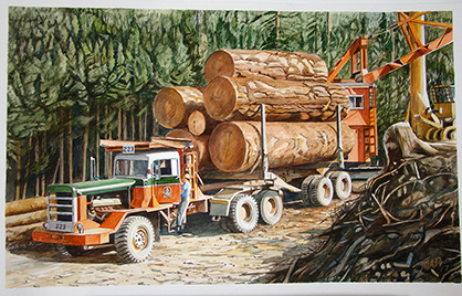 Logging truck, Port Renfrew
