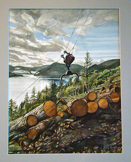 Logging at Comox Lake A