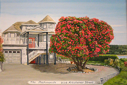 Richmond House with Rhododendron