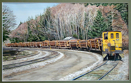 Log Train Near Beaver Cove