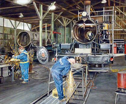 Boiler Makers Restoring Number 7 Steam Engine - Port Alberni